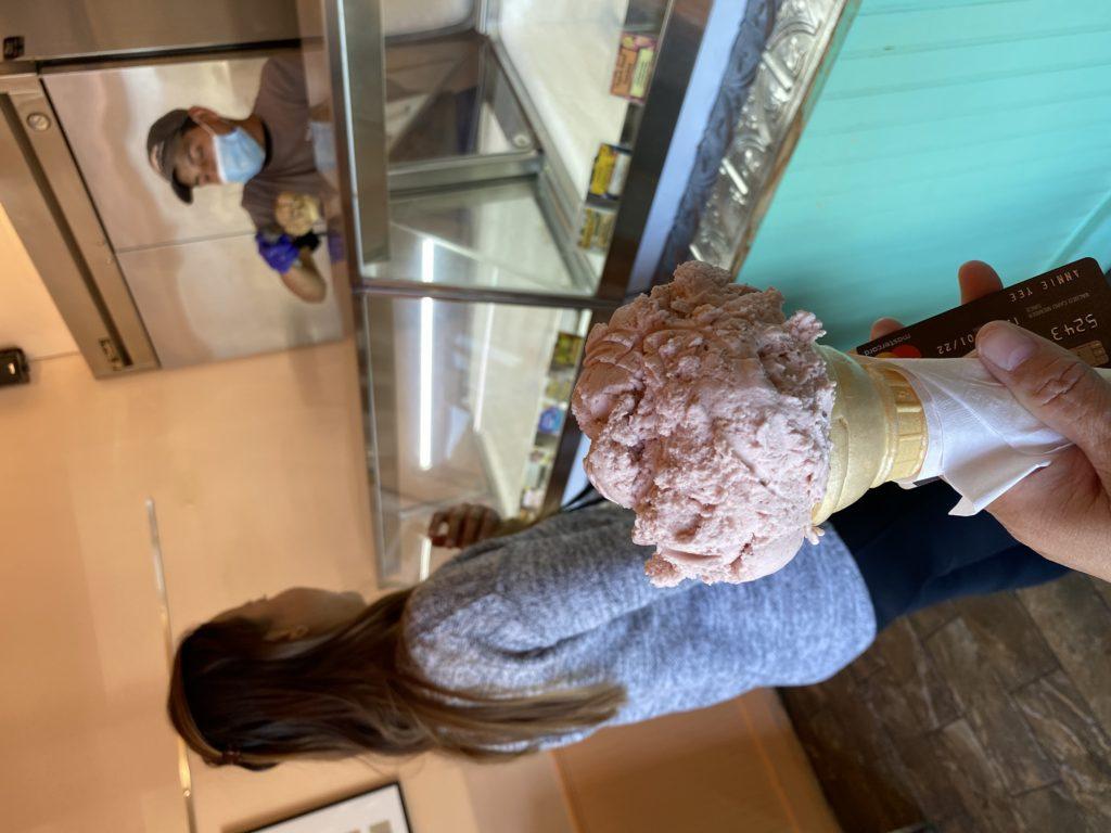 buying ice cream