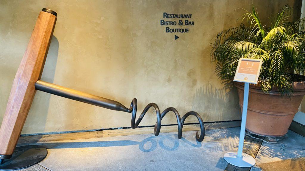 Auberge entrance art