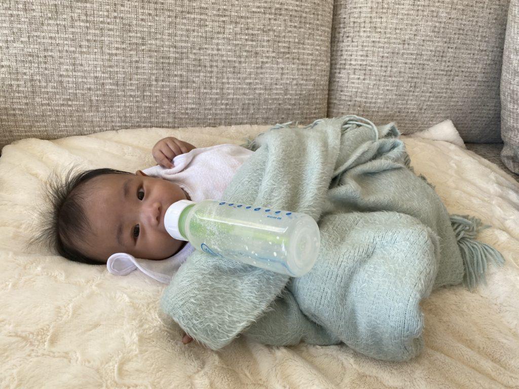 Bryson drinking milk
