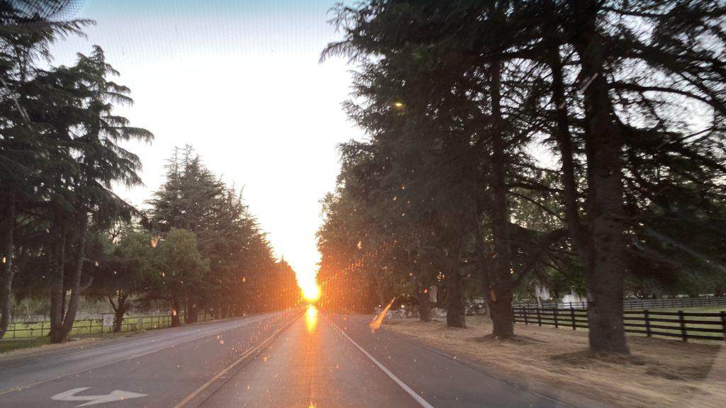 sunset in Buellton
