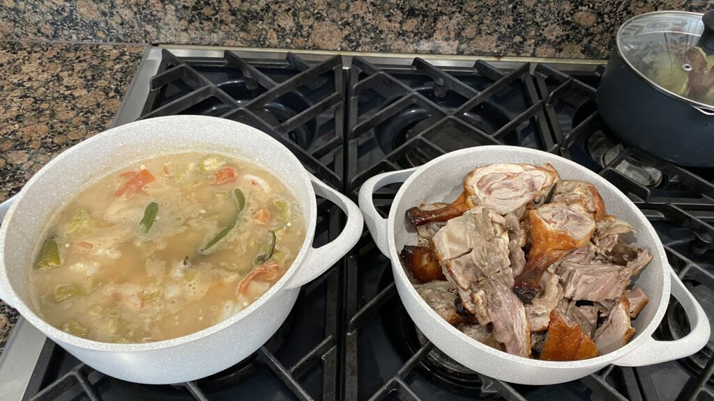 roast duck and soup