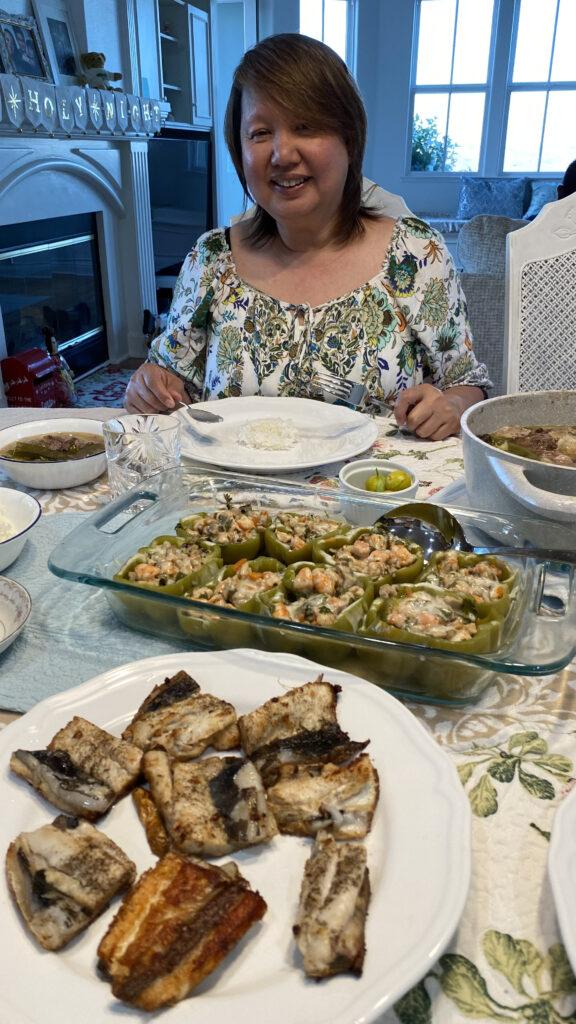 Len, dinner at home