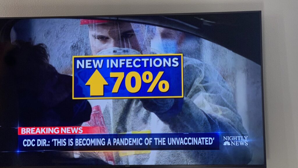 New covid infections